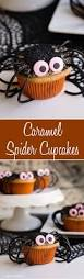 chocolate and caramel spider cupcakes halloween baking