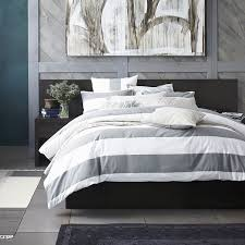 White Stripe Duvet Cover Bedroom Style Your Bed With Duvet Cover Home Design Grey And White