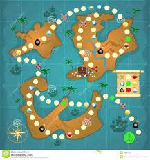 pirates treasure island game pirate puzzle template vector