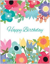 summer floral birthday card