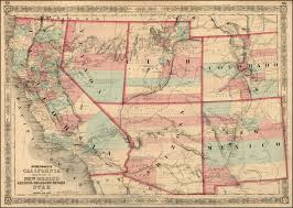 Map Of New Mexico And Arizona by Antique Prints Blog June 2013