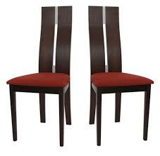 2 chaises cassidy wenge et chaise topkoo
