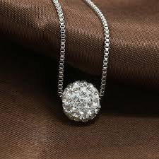 silver pendant choker necklace images Fashion new jewelry accessories silver crystal rhinestone pave jpg
