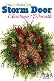 how to make wreaths how to make a slim door christmas wreath southern charm