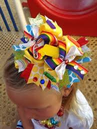 back to school hair bows back to school bow crayola bow bows hairbows and