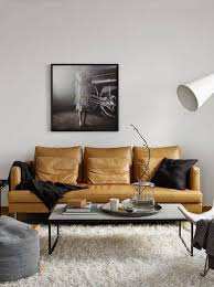 Orange Leather Sofa Modern House With Orange Leather Sofa And Clear Glass Coffee Table