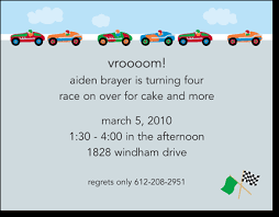 race cars party invitations by boatman geller glee prints
