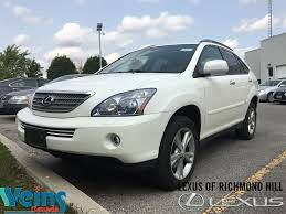 lexus rx 400h mp3 player used 2008 lexus rx 400h for sale richmond hill on
