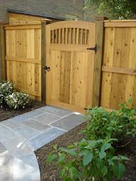 wooden garden gate traditional landscape dc metro by land