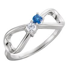 design a mothers ring sterling silver infinity style s ring descar jewelry design
