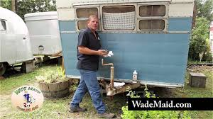 Zep Floor Wax On Camper restoring faded paint by hand on a vintage travel trailer youtube