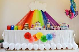 birthday party decoration ideas 60 rainbow birthday party ideas pink lover