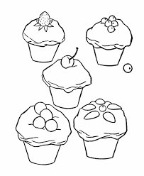 cute cupcake coloring pages happy birthday cupcake coloring pages for kids niceimages org