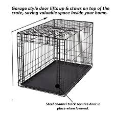 garage dog kennel amazon com midwest homes for pets ovation single door dog crate