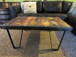 coffee tables mesmerizing reclaimed wood coffee table with metal