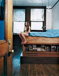 Building Platform Bed Platform Bed With Storage Underneath In An Nyc Building Where Her