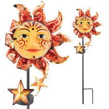 sun moon metal statues lawn ornaments ebay