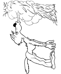 three little pigs coloring page the big bad wolf blowing the