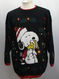 snoopy christmas sweatshirt 80 s vintage snoopy christmas golden light up christmas