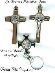 st benedict crucifix catholic gifts free st benedict medallion with st benedict