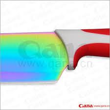 rainbow color blade kitchen knife set