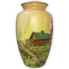 decorative urns mountain retreat log cabin metal urn