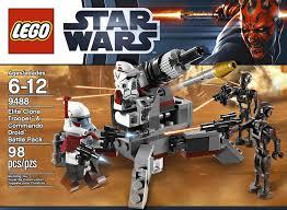 amazon com lego star wars elite clone trooper and commando droid