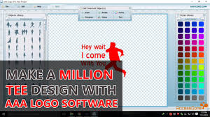 design t shirt program free how to make a million t shirt design with aaa logo software youtube