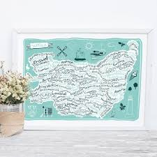 Suffolk County Map Print By Suffolk County Map Print By Tabitha Mary Notonthehighstreet Com