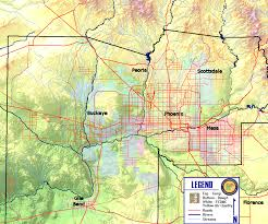 Map Of Chandler Az Maricopa County Temperature And Dew Point Map