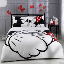 minnie mouse comforter love kiss mickey mouse white full bedding