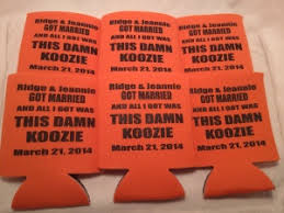 wedding koozie favors customized wedding koozies odyssey custom designs