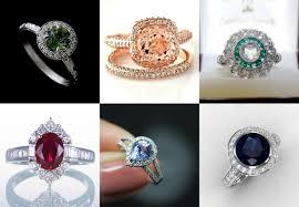 coloured wedding rings images Mood wedding rings jpg