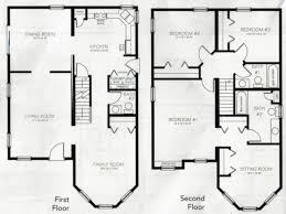 4 bedroom 2 story house plans 2 story living room floor plans centerfieldbar
