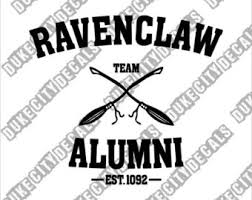 hogwarts alumni bumper sticker ravenclaw decal etsy