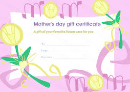 mothers day gifts for s day gift certificate template
