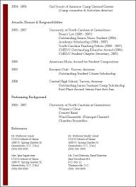 sample of resume for summer job standard resume format for