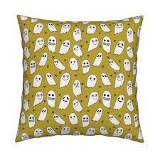 ghosts green halloween fabric cute scary spooky ghosties ghost