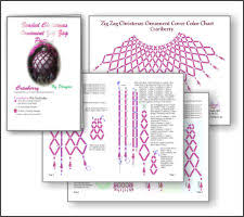 zig zag cranberry ornament beading patterns and kits