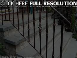 wrought iron outdoor stair railing kits stairs decorations and
