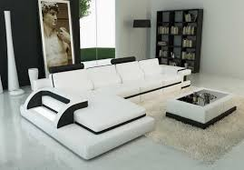 Black And White Sofa Set Designs White Leather Sectional Sofa Design For Modern Living Room Ideas