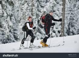 happy ski people mountaint on winter stock photo 123097609