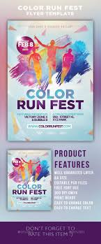 festival brochure template color run festival flyer template athletic events flyer