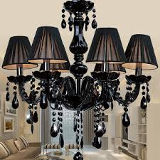 Chandelier With Black Shades Great 12 Light Black Crystal Chandelier For Dinning Room