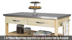 Natural Wood Kitchen Island by Top 10 Best Kitchen Islands U0026 Carts Youtube