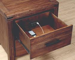 Two Drawer Nightstand With Built In Charging Station By Coaster