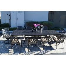 Black Iron Outdoor Furniture by Ten Person Patio Dining Sets You U0027ll Love Wayfair