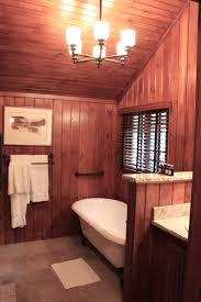 bathroom before and after and a ramble about wood paneling