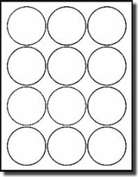 1 Inch Circle Template by 1 200 Labels 2 1 2 Inch Diameter White Matte Laser And