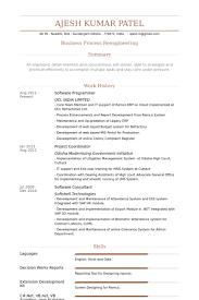 Sample Resume For C Net Developer by Software Programmer Resume Samples Visualcv Resume Samples Database